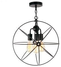 3 light rustic black metal cage shade dining room multi pendant light contemporary flush mount ceiling lighting by lightingworld