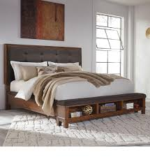 Signature Design by Ashley Ralene King Upholstered Bed with Storage  Footboard - Item Number: B594