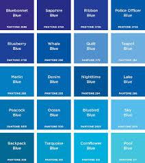 Pantone Color Chart Blue Pantone Colours In 2019 Blue Shades Colors Blue Color