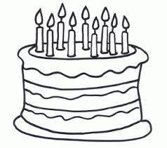 Small Picture Birthday cake coloring page jdlo Pinterest Birthday cakes