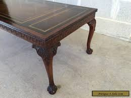 lovable leather top coffee table with antique mahogany leather top coffee table ball amp claw chippendale