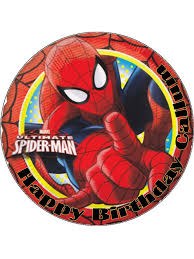 75 Ultimate Spiderman Personalised Edible Icing Or Wafer Paper