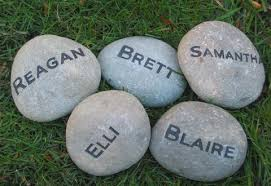 engraved garden stones. Personalized Engraved Garden Stone 4-5 Inch Marker With Family Names Stones