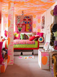 teen girl bedroom furniture. kids room cool tropical girl bedroom in a mix of colors with pineaple wallpaper teen furniture