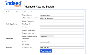 indeed resume search advanced search example resume indeed