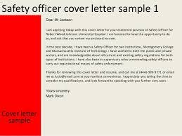 Sample Of Application Of Security And Safety Officer Cover Letter
