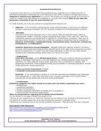 Examples Of Graduate School Resumes | Resume Examples And Free