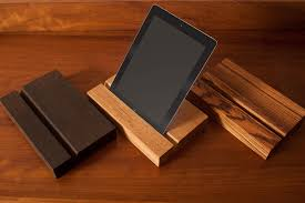 wooden ipad holder tablet stand