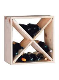 Small wine racks Table Product Sale Wine Cellar Innovations Pine Cube Wine Rack 40 Off Pine Wine Rack