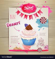 Cupcake Poster Design Vintage Cupcake Poster Design