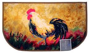 rooster kitchen rug d shape non skid rooster kitchen rug decor kitchen mat area rug rooster kitchen rug