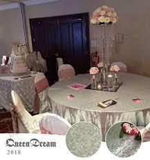 queendream silver sequin tablecloth for wedding 120 round silver glitter tablecloth b01lzmru6q