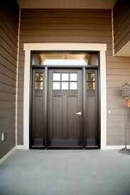 craftsman double front doors. Exterior Doors   Six-lite, Craftsman Style, Fiberglass Door, Stained Ebony, With Transom And Double Sidelites Bayer Built Woodworks, Inc. Front E