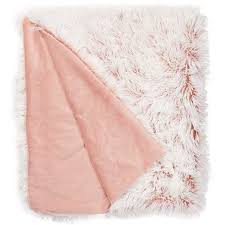 dusty pink throw blanket navi