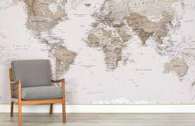 map wall mural earth tone world map maps room wall murals vintage map wall mural map wall mural