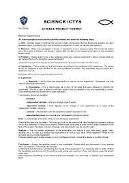 Science Project Report Science project format Research project 1