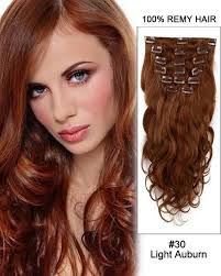 20 11pcs Body Wave Clip In Remy Human Hair Extensions 30