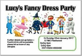 Details About Personalised Fancy Dress Birthday Party Invite Invites Invitation Cards