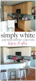 diy painting kitchen cabinets white. diy painted kitchen cabinets with benjamin moore simply white diy painting t