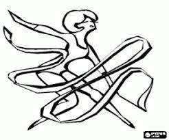 Kleurplaat Lint In Ritmische Gymnastiek Kleurplaten