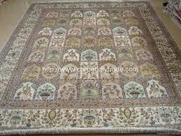 name handmade pure 100 silk carpet quality knot 500 line size 9x12 ft 275cm 366cm unit 19600 usd piece diagram number id 4000831