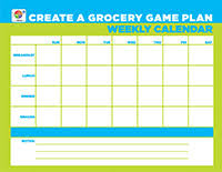 one week menu planner plan your weekly meals choose myplate