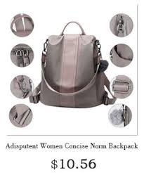 Women <b>Backpack Purse</b> Waterproof Nylon <b>Anti theft</b> Rucksack ...