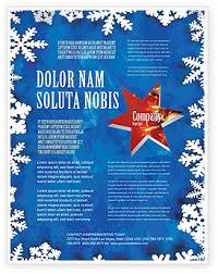 Flyers Theme Winter Theme Flyer Template Background In Microsoft Word