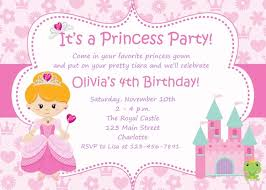 Invitations Card For Birthday Princess Birthday Party Invitations Birthday Invitation Card