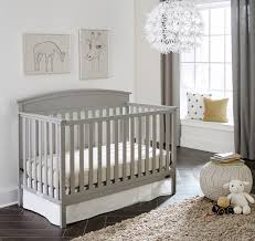 Graco Benton 5-in-1 Fixed-Side Convertible Crib - Pebble Gray