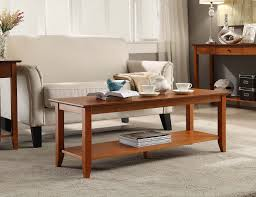 convenience concepts american heritage coffee table with shelf