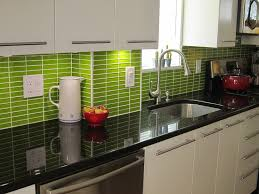 consider employing various shades of green for your kitchen backsplash tiles one by yourself needs to look at birds and think of how lush green grass