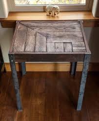 diy metal furniture. Repurposed Pallet Wood And Metal Side Table. Simple Piece, Great Cuts, Nice Finish Contrast Between The Metal. Diy Furniture I