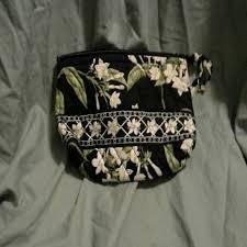 vera bradley jasmine pattern makeup bag