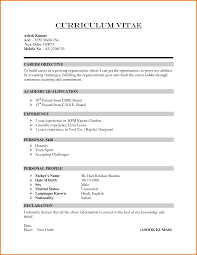 Formal Resume Format Itacams Dd05660e4501