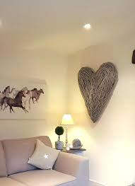 set wooden heart shaped wall stickers acrylic stereo removable art mural