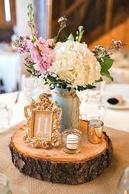 wedding centerpieces ideas vintage and rustic castle decoration 3 wood slab for fall reception decorations diy
