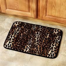 leopard print kitchen leopard print bathroom set shower curtain rugs towels