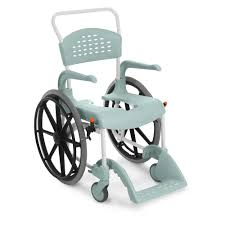 clean self propelled shower commode chair 55cm seat height