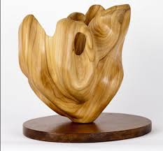 elm on wood base varietal cross section of fl fruit and plantlife sculpture by sculptor
