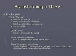frankenstein essay thesis statement  frankenstein essay thesis statement