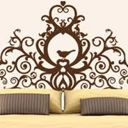 on wall art vinyl decal sticker headboard with grand royal headboard wall decal dezign with a z