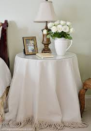 round bedside table covers marvelous round accent table cloths 84 about remodel modern house