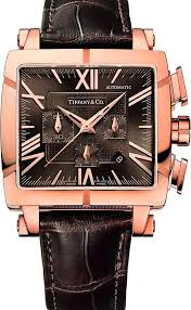 tiffany atlas gent square chronograph watch elegant and resolutely modern