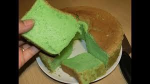 Sponge Cake Atau Bolu Pandan Lembut Dan Lezat Youtube