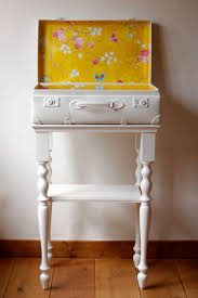 Suitcase Nightstand upcycled suitcase by petite dumoulin i love this white suitcase 5140 by guidejewelry.us