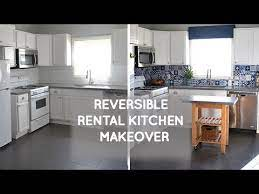 Budget Rental Kitchen Remodel That Is Easily Reversible Youtube