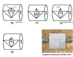 Toilet Paper Origami Flower Instructions Toilet Paper Flower Instructions
