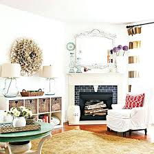 fireplace mantels ideas white ideas to decorate a corner fireplace and mantle shown in this beautiful