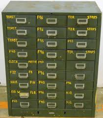 Storage Bin Cabinet 27 Drawer Cole Steel Cabinet Vtg Industrial Green Parts Bin